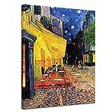 Bilderdepot24 Kunstdruck - Alte Meister - Vincent Van Gogh - Caféterrasse am Abend - 60x80cm Einteilig - Leinwandbilder - Bilder als Leinwanddruck - Bild auf Leinwand - Wandbild