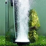 Hygger Auströmer Aquarium Luftstein, Sauerstoff Stein, Sehr Leiser Sprudler Aquarium, Teich Luftausströmer Geeignet für Teiche, Aquarien und Fisch Tank, Ideal für Aquarienluftpumpe (Schwarz, 2 inch)