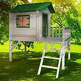 BRAST Spielhaus für Kinder mit Balkon Stelzenhaus 'Adventure' 167x191x216cm Kinder-Haus Turm Holz Spielehaus