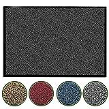 casa pura Premium Fußmatte / Sauberlaufmatte für Eingangsbereiche | Fußabtreter mit Testnote 1,7 | Schmutzfangmatte in 8 Größen als Türvorleger innen und außen | anthrazit - grau | 60x90cm