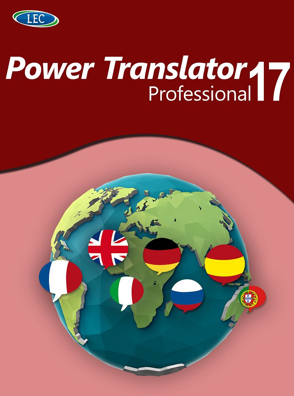 Power Translator 17 Professional - Übersetzungen in 8 Weltsprachen! Windows 10|8|7 [Online Code]