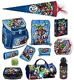 Avengers Schulranzen Set 16tlg Scooli Campus Up mit Sporttasche Federmappe gefüllt Schultüte 85cm AVEN8252