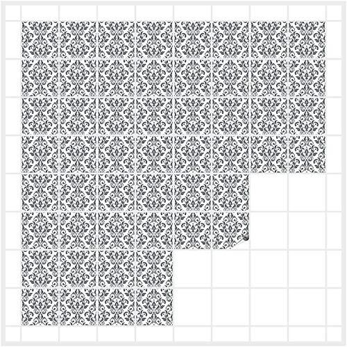 FoLIESEN Fliesenaufkleber für Bad und Küche | Fliesenbild Patchwork | Fliesensticker für Wandfliesen