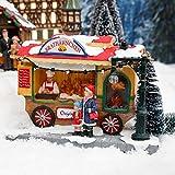 Gärtner Pötschke Miniatur-Weihnachtsdorf LED-Brathähnchen-Wagen