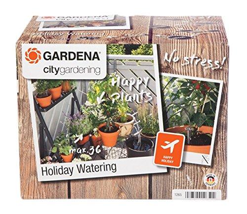 GARDENA 1265-20 city gardening Urlaubsbewässerung, Bewässerung wird täglich für 1 Minute über Transformator mit integriertem Zeitschalter aktiviert, bis zu 36 Topfpflanzen können automatisch bewässert werden - ideale Urlaubsvertretung für Ihre Pflanzen