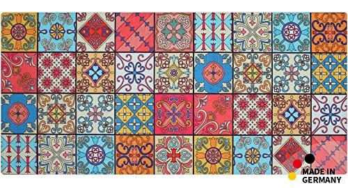 matches21 Küchenläufer Teppichläufer Teppich Läufer Marokko Retro Mosaik 50x120x0,4 cm maschinenwaschbar