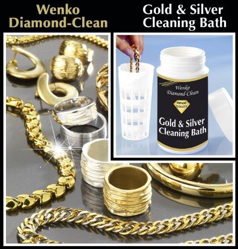 WENKO 3085610500 Diamond Clean Gold- & Silber Reinigungsbad - 2er Set, Schmuckreiniger, Chemie, 7 x 14 x 7 cm, Mehrfarbig