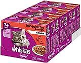 Whiskas Katzen-/Nassfutter Multipack Senior 7+ für ältere Katzen Klassische Auswahl in Gelee, 48 Portionsbeutel (4 x 12 x 100 g)