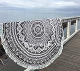 Überwurf, Strandtuch, Yogamatte, indisches Mandala, rund, Baumwolle, Tischdecke Strandtuch, runde Yogamatte, Schal, 182,9cm Strand Freizeit, Picknick