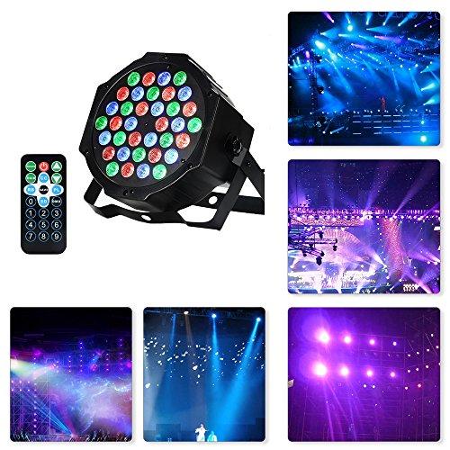 LED PAR,36W 36LEDs RGB 7 Beleuchtung Modi Disco Lichteffekte dj party Licht Bühnenbeleuchtung led scheinwerfer Fernbedienung DMX Steuerung Discolicht für DJ KTV Disco Party