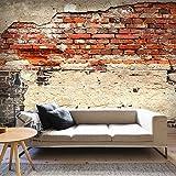 murando - Vlies Fototapete 350x245 cm - Vlies Tapete - Moderne Wanddeko - Design Tapete - Ziegel Ziegelstein f-A-0503-a-b