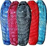 Hyke & Byke Shavano 0C Ultraleicht Mummy Down Schlafsack für Backpacking mit Kompressions Sack und Fünf (5) Farboptionen (Shwarz, Lang)