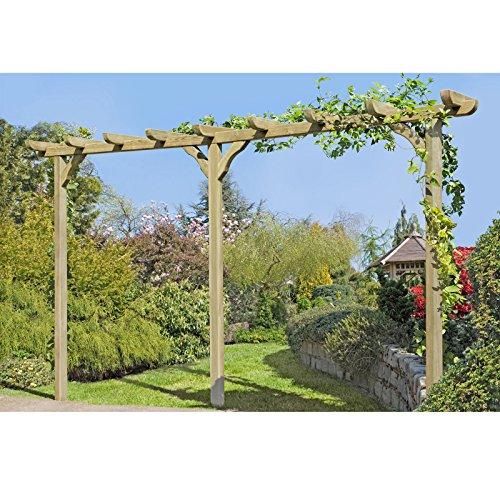 Pergola aus Holz Torbogen Rankhilfe Länge ca. 450 cm mit Pfosten 9x9cm von Gartenpirat