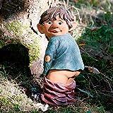 Gartenfigur Gnom Erni mit heruntergelassener Hose