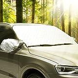 AUTOWN Auto Sonnenschutz/Sonnenblende Frontscheibe, Schneeschutz Scheibenabdeckung für Winter + Sommer, 147x100 cm