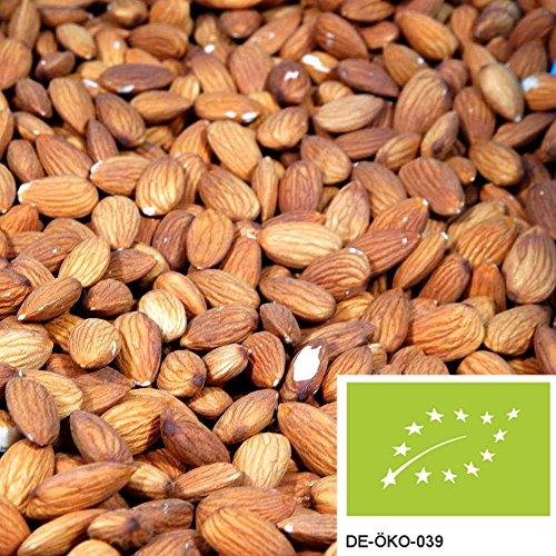1kg naturbelassene Bio Mandeln ganz, versandkostenfrei (in D), rohe Mandeln mit Haut und ohne Zusätze