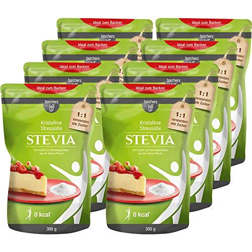 borchers bff Stevia Kristall mit Erythrit 8er Pack (8x 300g)