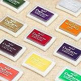 Kesote Stempelkissen Set, 15 Farben Stempel Tinte für Kinder Papier Handwerk Stoff Fingerabdruck Scrapbook Malerei