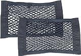 Lescars Kofferraumnetz: 2er-Set Kofferraum-Gepäcknetz-Taschen, 25 x 40 cm, elastisch (Auto Netz)