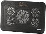 Callstel Laptopkühler: Notebook-Kühler bis 43,2 cm (17'), 5 Ventilatoren, 1.800 U/min, 2X USB (Notebookcooler)