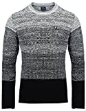 Carisma Herren - Strickpullover 7398 Streetwear Menswear Autumn/Winter Knit Knitwear Sweater CRSM CARISMA Fashion, Größe L, Farbe Black