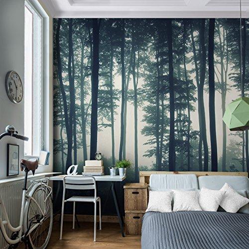 Vintage Fototapete 'Forest' 396x280 cm - Premium Inneneinrichtung für Zuhause oder Büro!