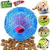 Hundeball,Maltsky Hundespielzeug Ball aus Naturgummi,Langlebiger Hundespielball für Große & Kleine Hunde,ø 7cm mit Dental-Zahnpflege-Funktion mit Noppen und Loch für Leckerli (Blau)
