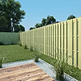 Tidyard- StaketenZaun Zaunelement Kiefernholz Zaunfeld Gartensichtschutz Gartenzaunfeld Sichtschutzzaun Bogendesign