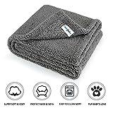 furrybaby Premium Flauschige Fleece Hundedecke,Weiche und Warme Hündchen Decke für Hund und Katze (M 75*100cm, Grau)
