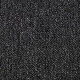 20 Stück Teppichfliesen Bodenfliesen Teppich 50 x 50 cm Gesamtfläche 5 m² (Schwarz-Grau)