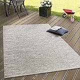 Paco Home In- & Outdoor Flachgewebe Teppich Terrassen Teppiche Mit Farbverlauf In Beige, Grösse:80x150 cm