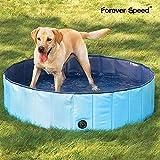 Forever Speed Hundepool Doggy Pool Hunde Pool Planschbecken Swimmingpool Badewanne Pool Φ 160 x 30 cm Blau Umweltfreundliche PVC