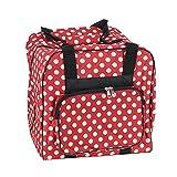 Over-Coverlock Tasche (rot/creme gepunktet)