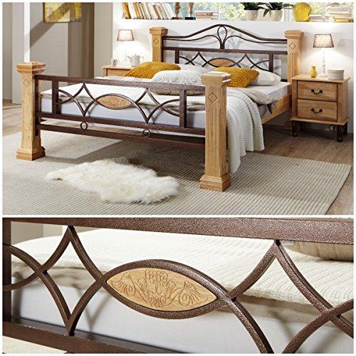 Massiv Holz Bett ROM Holzbett Natur Farbe in Buche 180x200cm 180 Ehebett Doppelbett