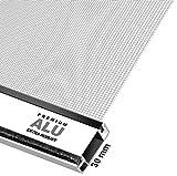Schellenberg 70060 Insektenschutz-Tür Premium, Fliegengitter mit Rahmen – 100 x 215 cm in Weiß