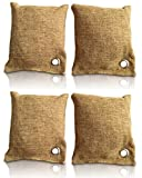 Rummershof Bambus Lufterfrischer mit Aktivkohle 4x200g - Geruchskiller & Luftreiniger für Wohnung, Auto, Küche, Schuhe, WC