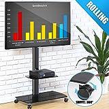 FITUEYES Universal Mobile TV Wagen TV Ständer Drehbar höhenverstellbar 32 bis 65 Zoll LED LCD TV Plasma Schwarz TT206503GB