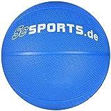 ScSPORTS Medizin-/Gewichtsball, für Variables Fitness-Training, aus texturiertem Gummi für optimalen Grip, Gewicht: 1 kg