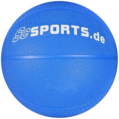 ScSPORTS Medizin-/ Gewichtsball, für variables Fitness-Training, aus texturiertem Gummi für optimalen Grip, Gewicht: 2 kg