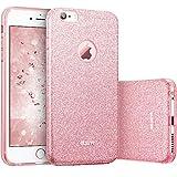 ESR iPhone 6 / 6S Hülle (4,7 Zoll), Glitzer Schutzhülle [Weiche TPU Abdeckung + Glitzer Papier + PC innere Schicht] [DREI in Einem] Hülle für iPhone 6/6S (Rosygold)