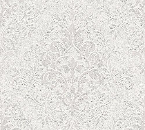 Livingwalls Vliestapete Jette Joop Tapete mit Ornamenten barock 10,05 m x 0,53 m grau metallic Made in Germany 339246 33924-6
