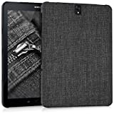 kwmobile Hardcase Stoff Hülle für Samsung Galaxy Tab S3 9.7 T820 / T825 - Cover Case in Stoff Design Dunkelgrau