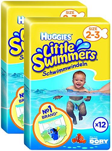 Huggies Little Swimmers Schwimmwindeln, Gr.2/3, 2er Pack (2 x 12 Windeln)