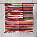 Paper High Fair Trade Flickenteppich groß 180 x 120 cm