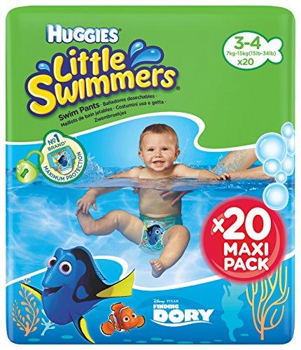 Huggies Little Swimmers Schwimmwindeln, Gr.3/4 (7-15 kg), 1 Packung mit 20 Stück