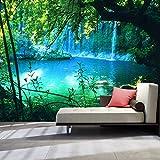 murando - Fototapete Natur 300x210 cm - Vlies Tapete - Moderne Wanddeko - Design Tapete - Wandtapete - Wand Dekoration - Landschaft Wasserfall c-B-0132-a-a