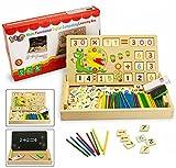 Montessori Mathe Spielzeug,BBLIKE Spielzeug Doodle aus Holz Zeichnung,Zeichnung Holzbrett Spielzeug Lernspielzeug f¨¹r Kinder 3 4 5 Jahre Alt