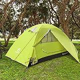 Bessport Zelt 2 Personen Ultraleichte Camping Zelt Wasserdicht 3-4 Saison Kuppelzelt Sofortiges Aufstellen für Trekking, Outdoor, Festival, mit kleinem Packmaß (Limeade)