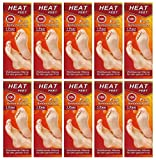 M&H-24 Fußwärmer Pads für Schuhe-Füße Fußsohlenwärmer Sohlen-Wärmer für warme Füße im Winter, 20 Paar beheizbare Einlegesohlen bis zu 10 Stunden 38°C, Grösse 36-41