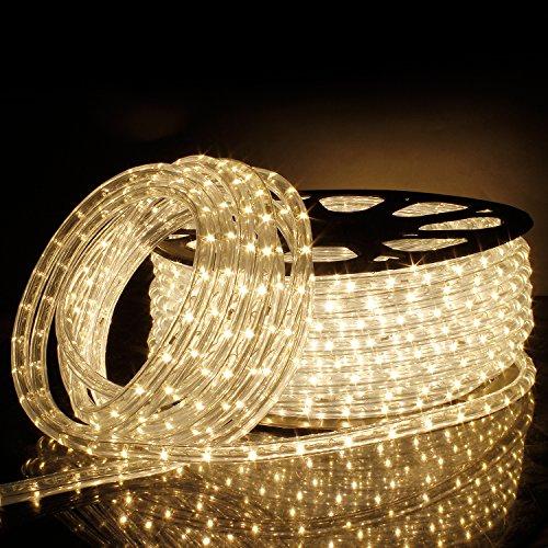 LED Lichterschlauch Lichtschlauch Lichterkette Licht Leiste 36LEDs/M Schlauch für Innen und Außen IP65 50M Warmweiß